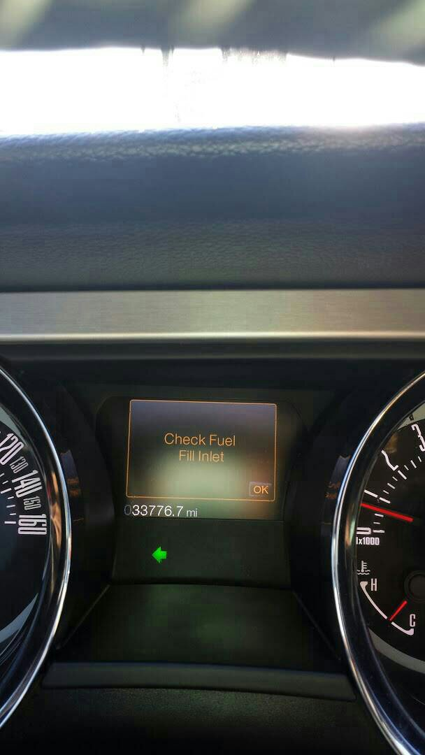 Check Fuel Fill Inlet >> 2013 Mustang Check Engine Light On Mustang Evolution Forum