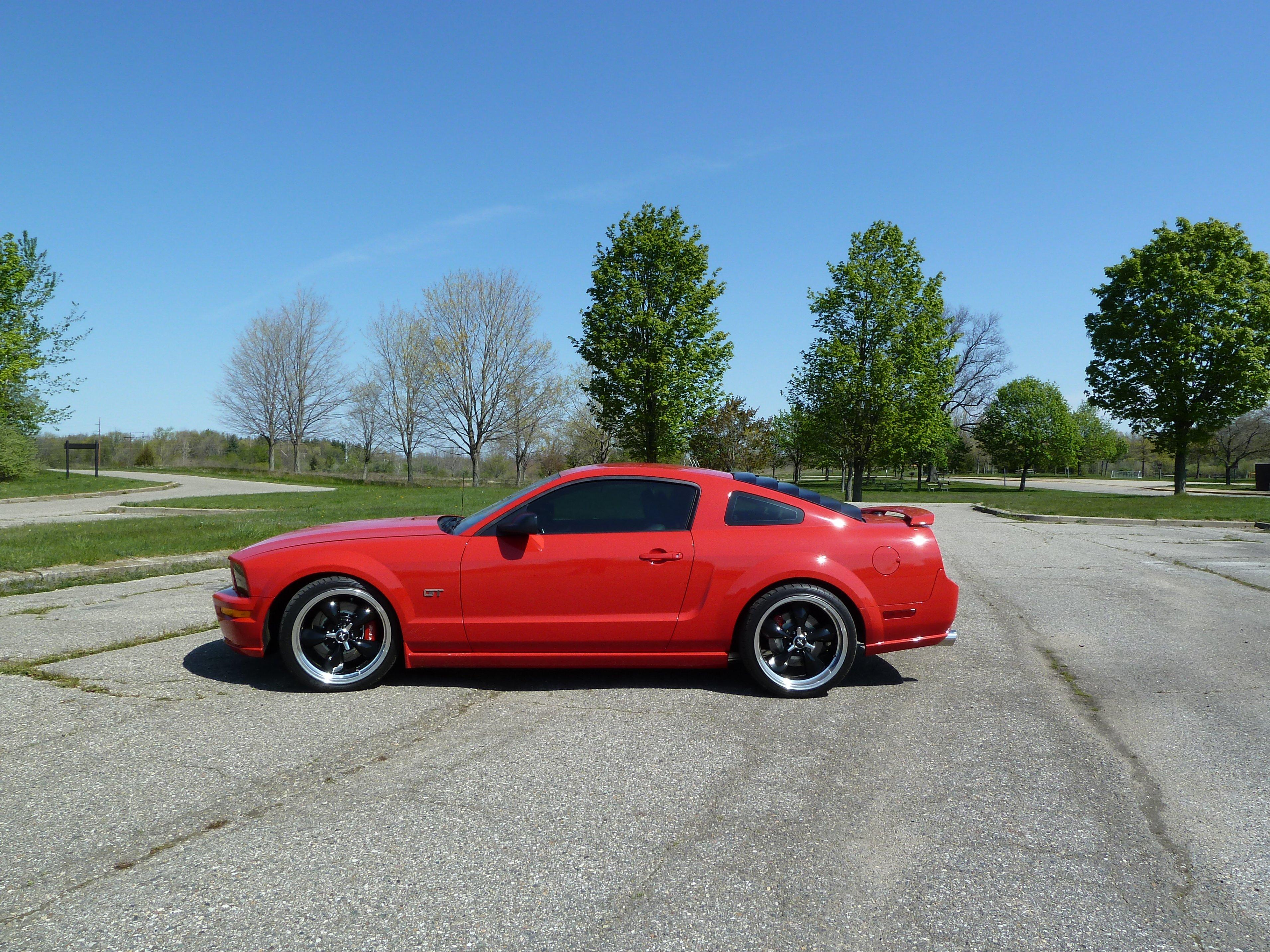 Chrome Rims Vs Black Rims Mustang Evolution