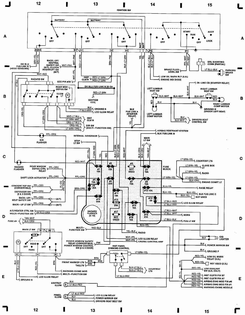95 mustang gt alternator wiring schematic