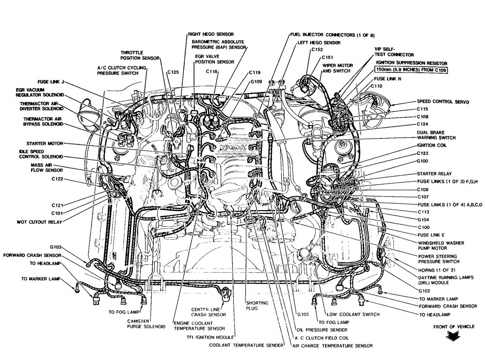 1995 Ford Taurus Engine Diagram