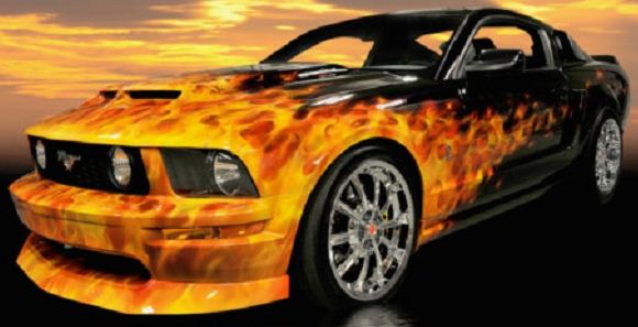 Click image for larger version  Name:Flamed 07 Mustang.jpg Views:843 Size:31.6 KB ID:33710
