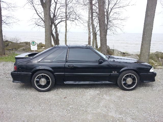 Black 93 Cobra rims  Mustang Evolution