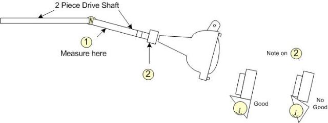 mustang driveline angle