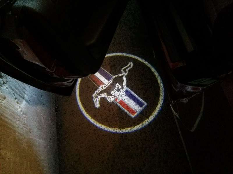 Mustang Logo Puddle Lights Rice Or Nice Mustang Evolution