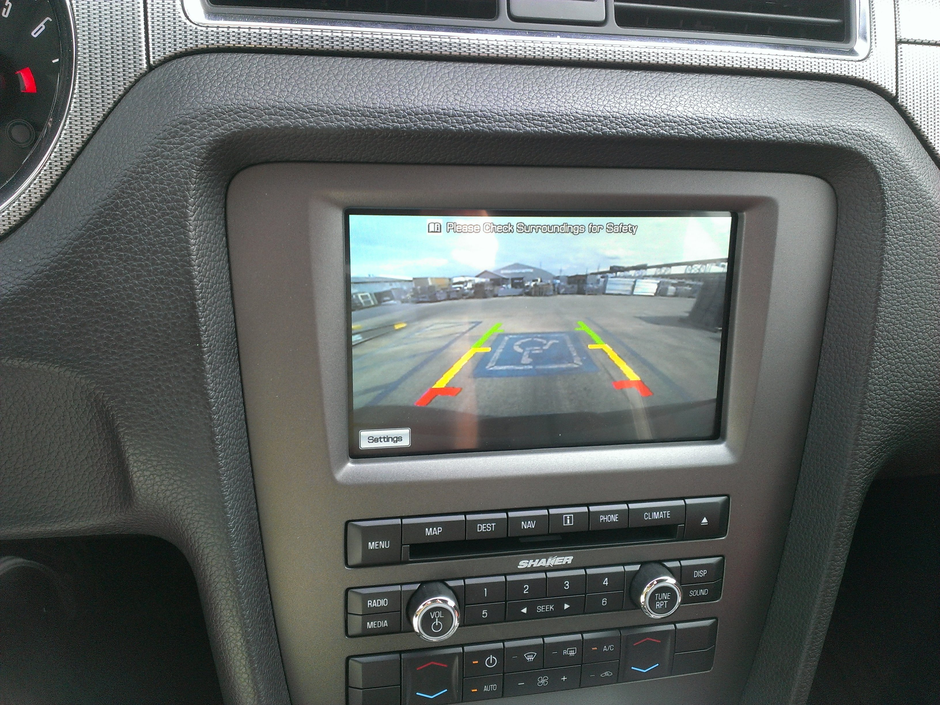 how to add a back up camera to stock navigation sync unit mustang evolution. Black Bedroom Furniture Sets. Home Design Ideas