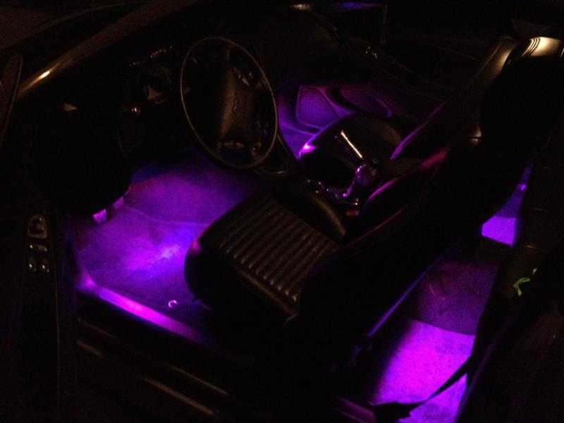 Installed 7 color l e d interior lights mustang evolution for 2012 mustang interior lights