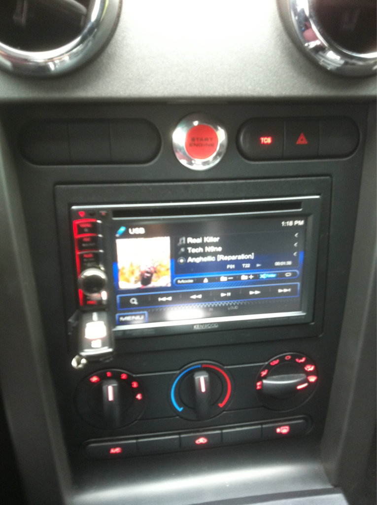 Charlotte On The Cheap >> Aftermarket Head Unit, Single or Double DIN? - Mustang ...