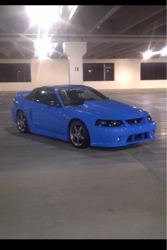 Grabber Blue Mustang >> New edge custom paint and stripes - Mustang Evolution