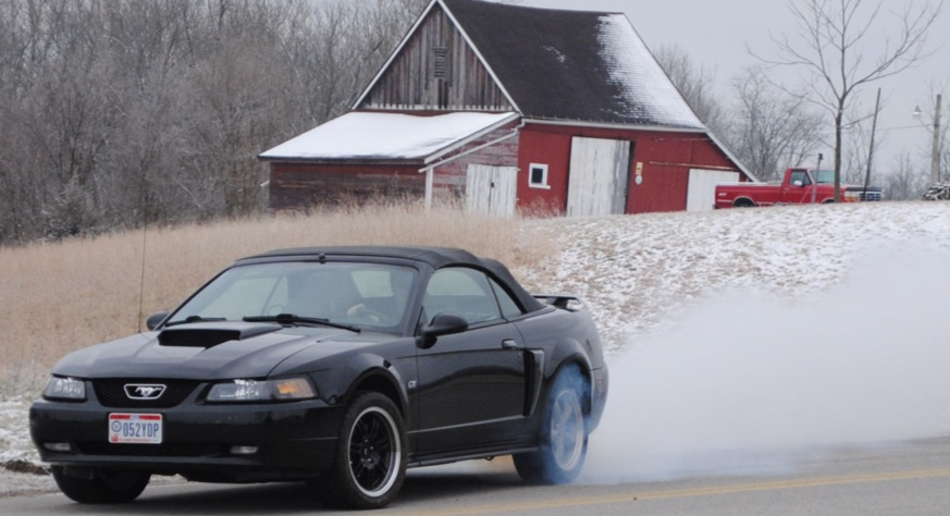 Burning Some Rubber Mustang Evolution