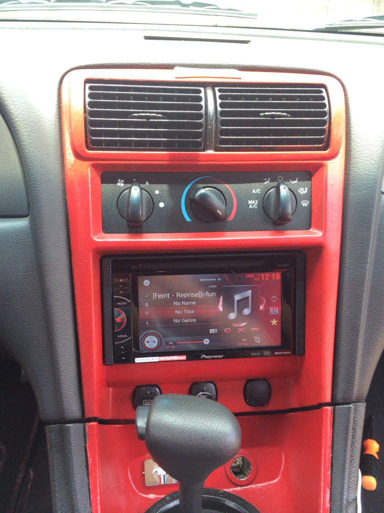 installed a new touch screen radio mustang evolution. Black Bedroom Furniture Sets. Home Design Ideas