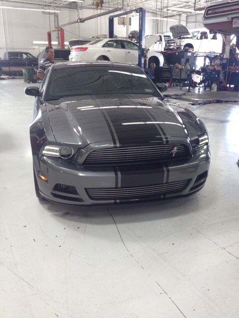Stripes On Sterling Grey Metallic Gt Mustang Evolution