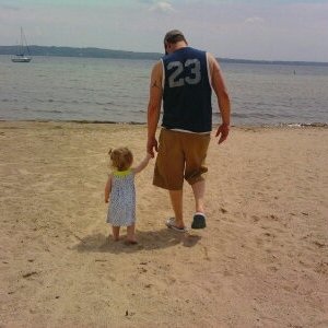 Beautiful day at the beach with my sweet lil daughter!
