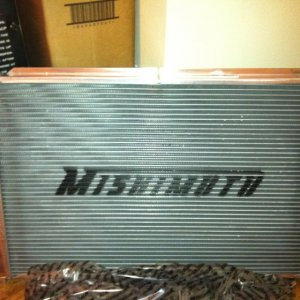 Why not:  Mishimuto radiator...hell i got a great deal and nice looking too.
