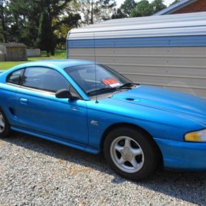 1994 Ford Mustang GT 5.0  #1. Just pick up this 5.0 mustang. Needs some work.