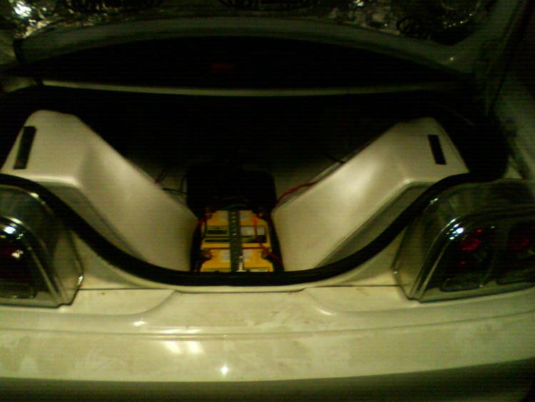 2 15 inch subs bumping it in a 1995 gt