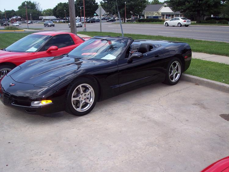 2004 Black Corvette COnvertible