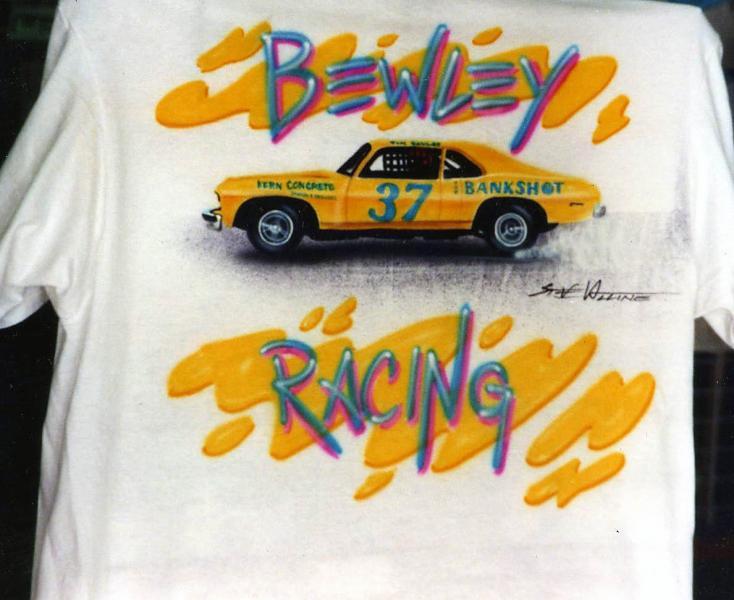 Airbrush T shirt CAR Race Nova 1992