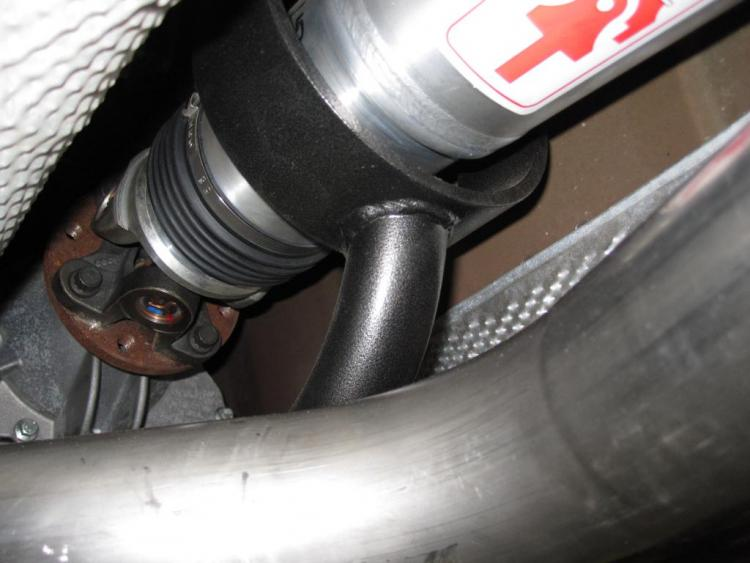 "BMR Drive Shaft Safety Loop, Axle Exchange Aluminum Drive Shaft and Magnaflow 3"" Stainless Steel Exhaust"