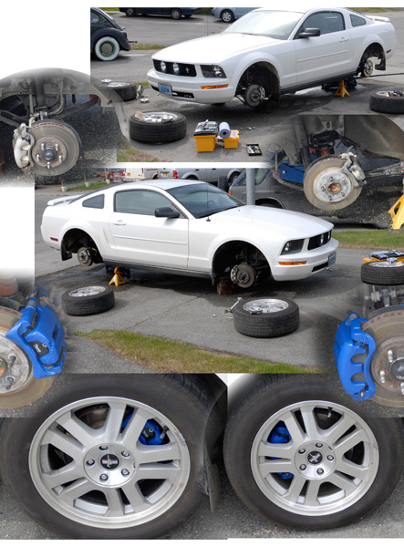 "Caliper Paint Blue Wheels 17"" GT Car 2006 V6"