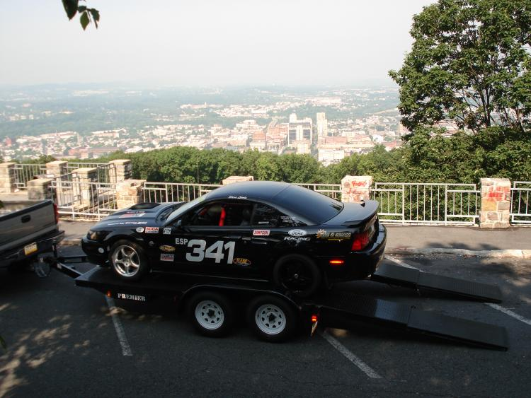Comin off the trailer at the Pagoda in Reading, PA.  We were doing a promo for the PHA and they wanted my car up there to show.
