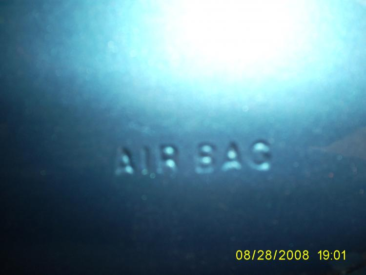 dash on P/S airbag