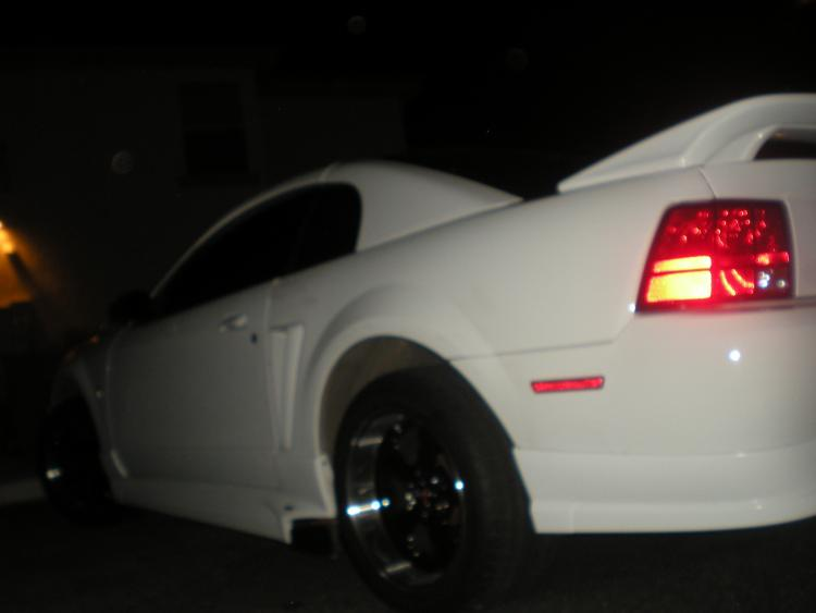deep Dish 17 by 10.5'' rims in the back