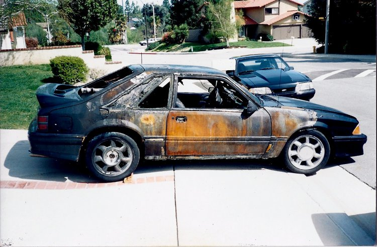 Exterior Fire Damage (Pic provided by previous owner)
