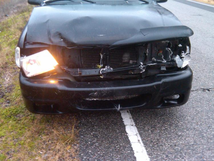 First wreak.  Hit a deer.