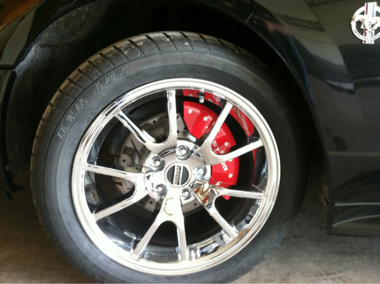 Front wheels. FR500's, slotted rotors, and caliper covers to pretty things up.