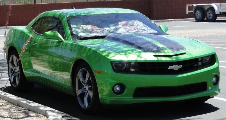 I dont know her but I am told a woman drives this Synergy Green Camaro SS.