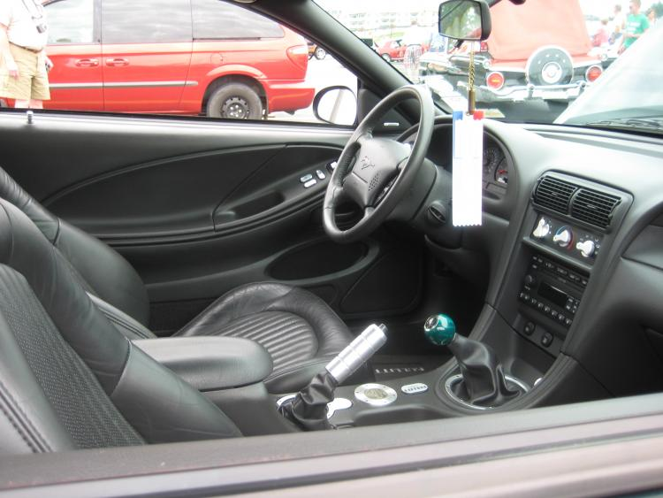 Interior of the 01 Bullitt Mustang