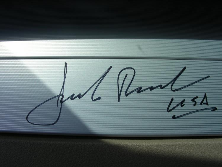 Jack Roush signature
