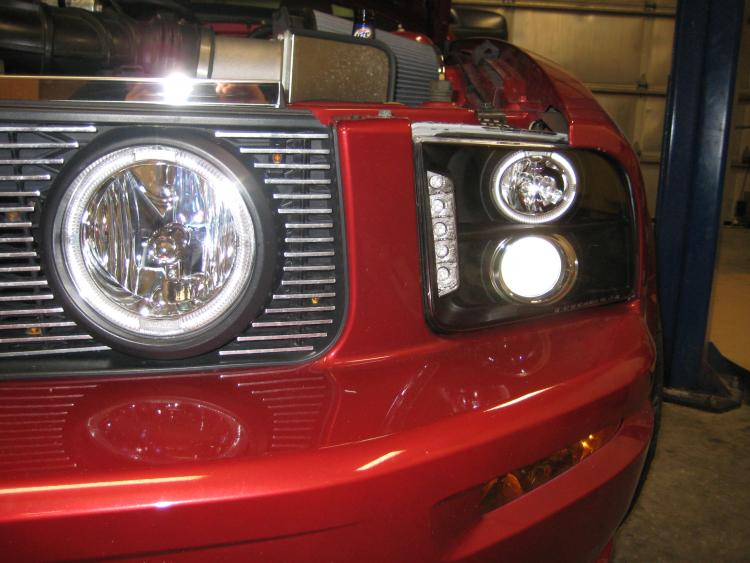 LED projector headlights and foglights