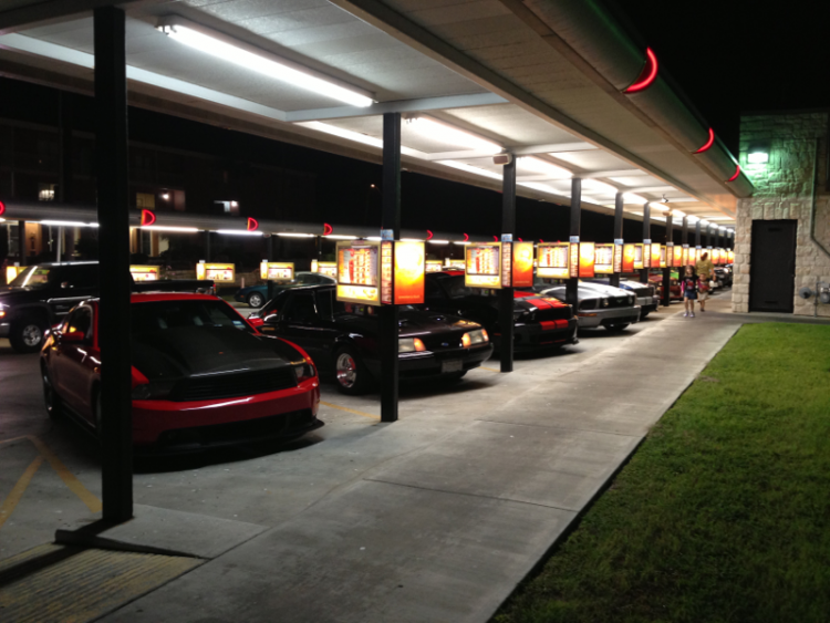 Mustang night at Sonic drive in.