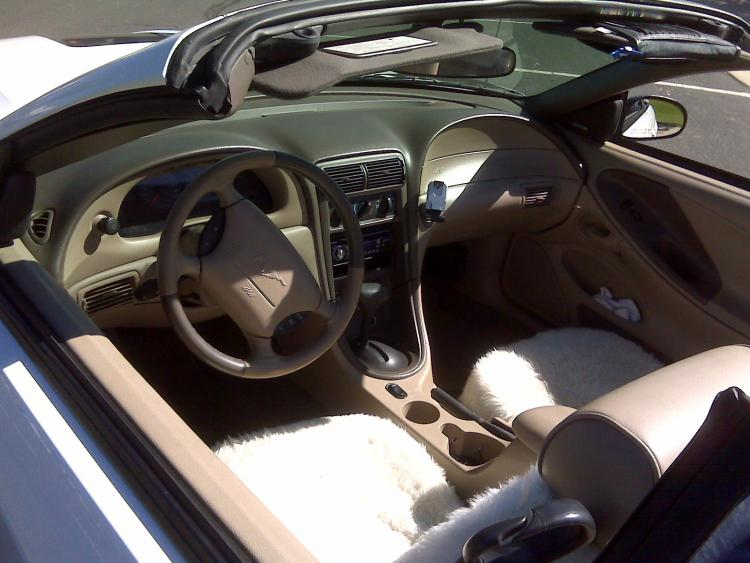 Mustang010 Stock interior...except for sheepskin seat covers