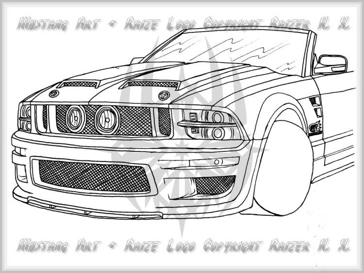 My Ford Mustang Design (Front View)