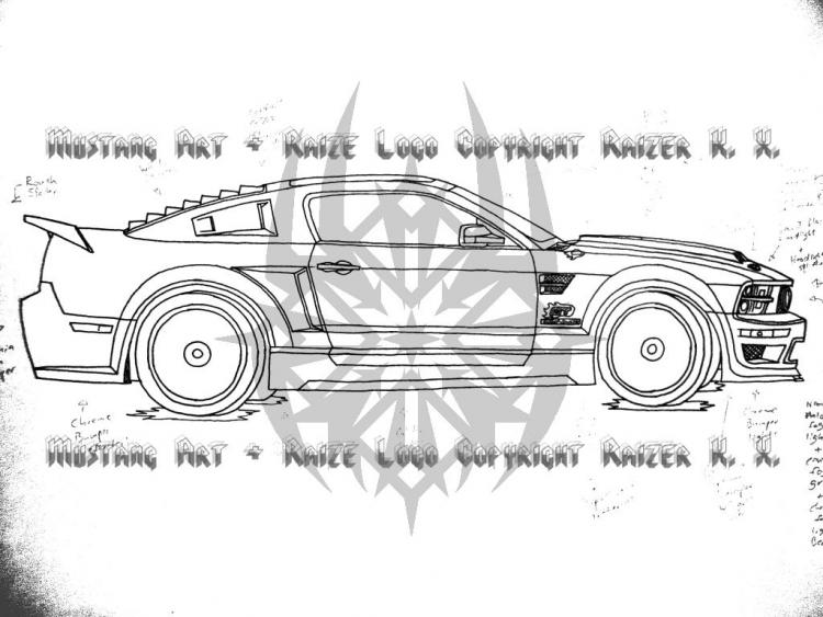 My Ford Mustang Design (Side View)