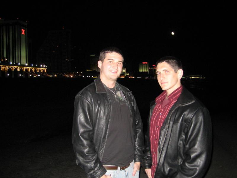 My friend Dave (right) and me (left) in Atlantic City