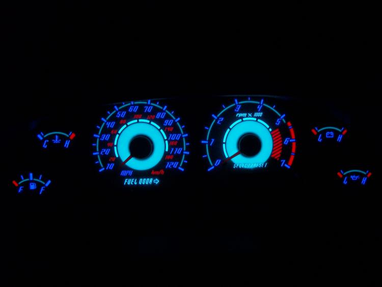 My new gauges at nigh