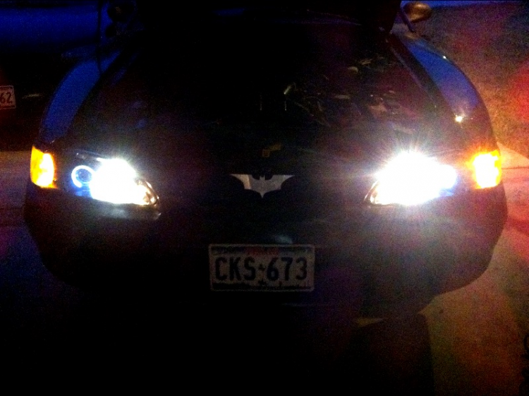 New projector headlights. Compliments of Americanmuscle.com :)