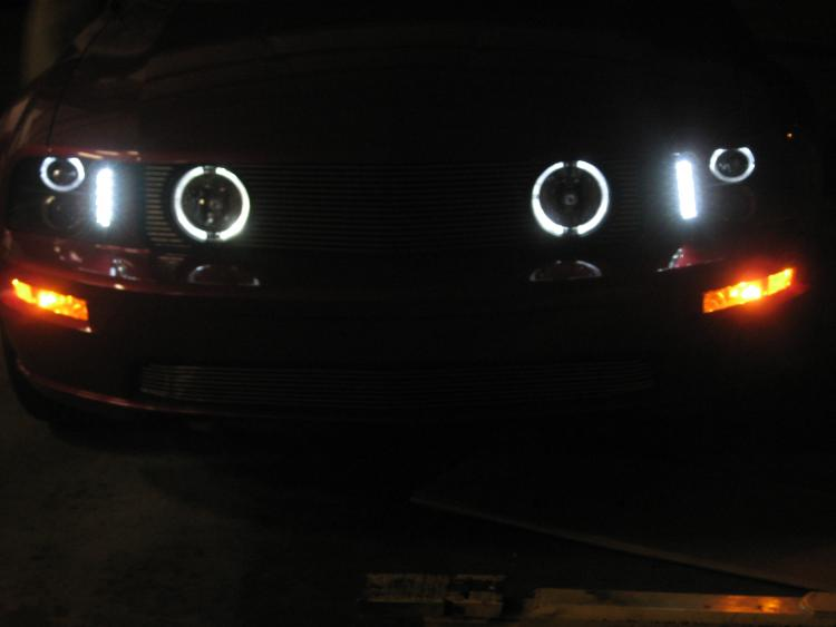 New running lights in the dark
