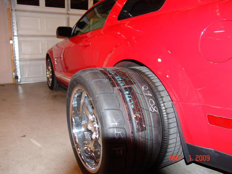 new wheels & tires (CCW sp500's) rear tires 315/35/18 Toyo TQ Drag Radials