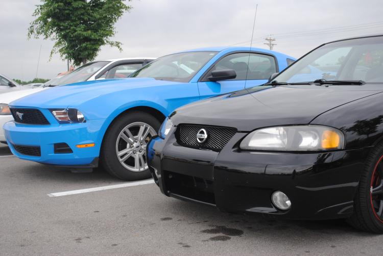 Next to a Nissan sentra ser