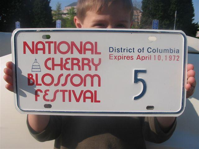 Original license plate