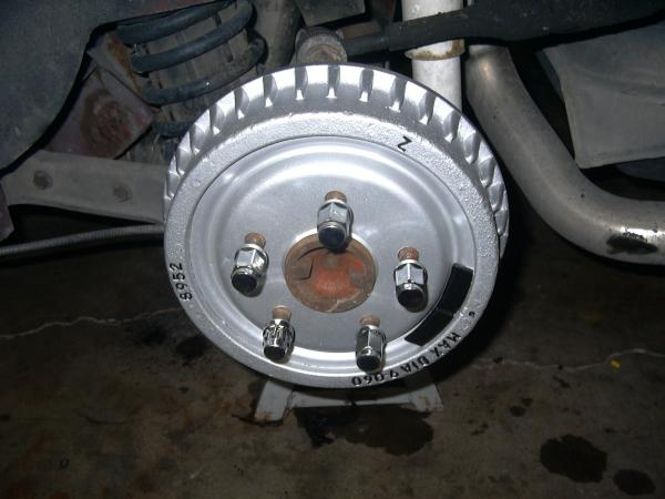 Rear Brake Detail on Brandon's 91 after 5-lug Conversion with Ranger Axles