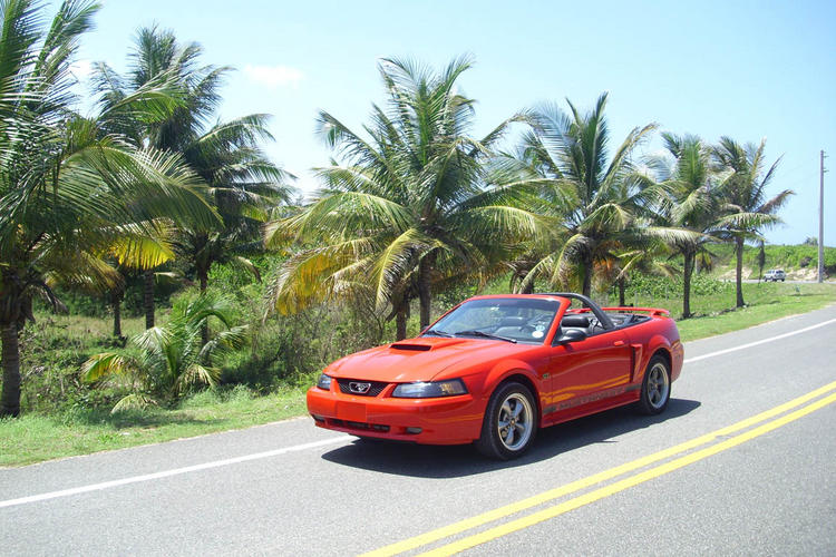 Red GT on road 1309