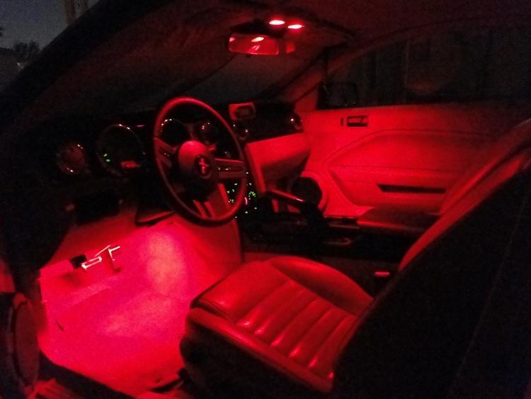 Red Led Interior Lights (camera makes them look brighter)