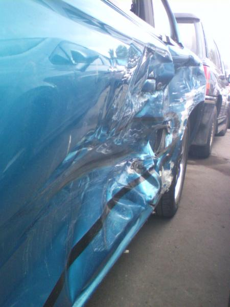 side view after being t-boned