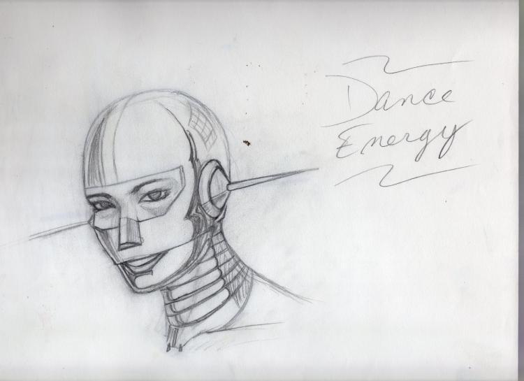Sketch Chrome Girl Face 1991