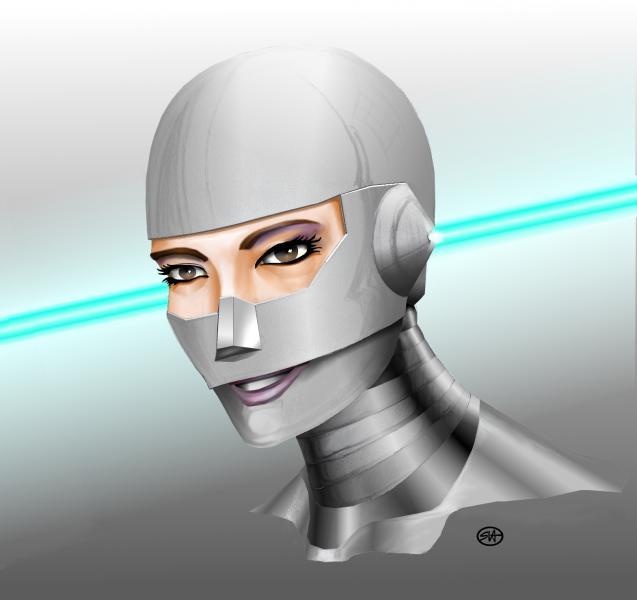 Sketch Chrome Girl Face 2010